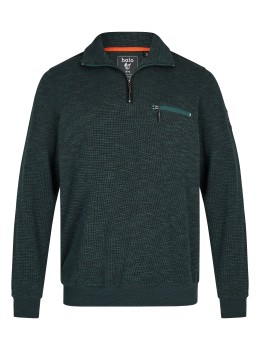 Sweatshirt in Slub-Melange