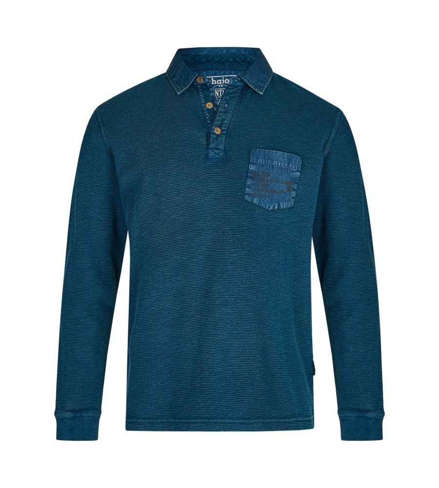 Gewaschenes Polosweatshirt 26822-602 front