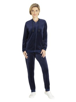 Homewear-Anzug Velours-Nicki uni