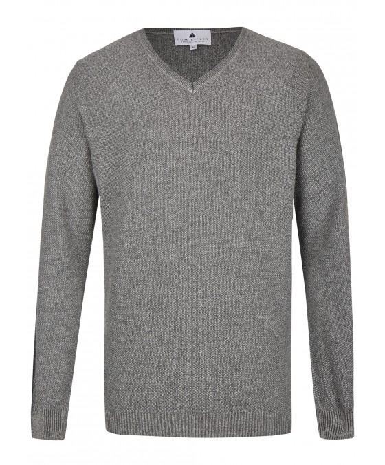 Pullover mit V-Ausschnitt T1003-104 front